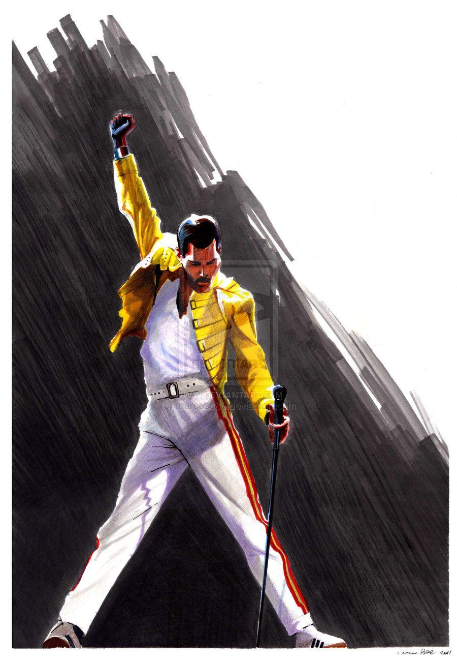 Freddie Mercury By Marcoso86 On Deviantart Fredy Mercury Mercurio Mercury
