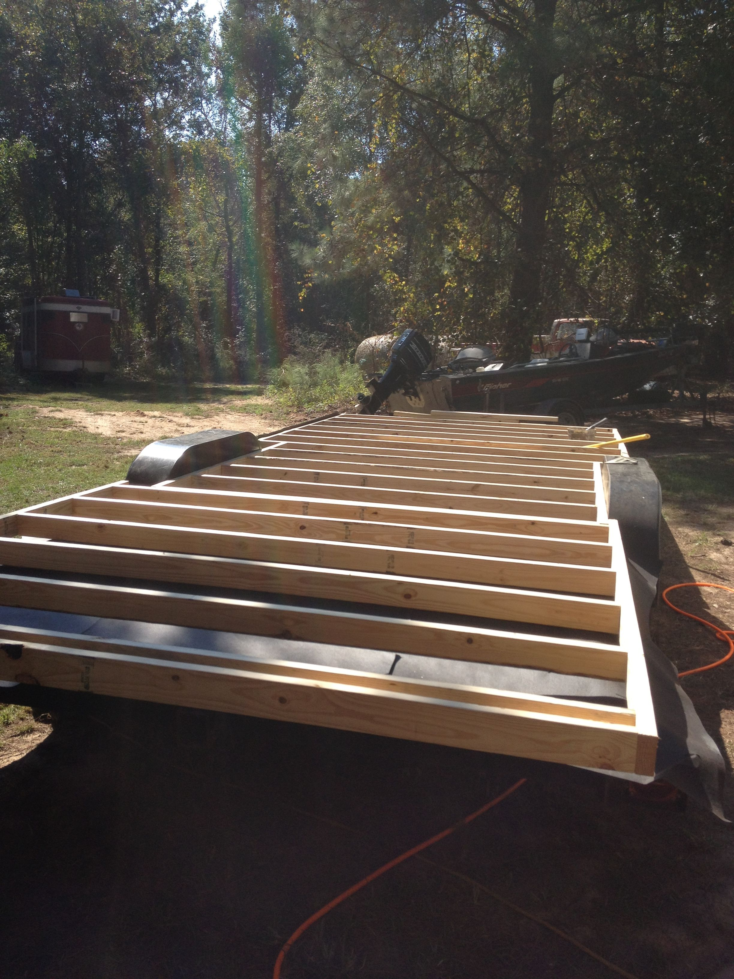 We started on our Tiny house on October 5 2013. We used a