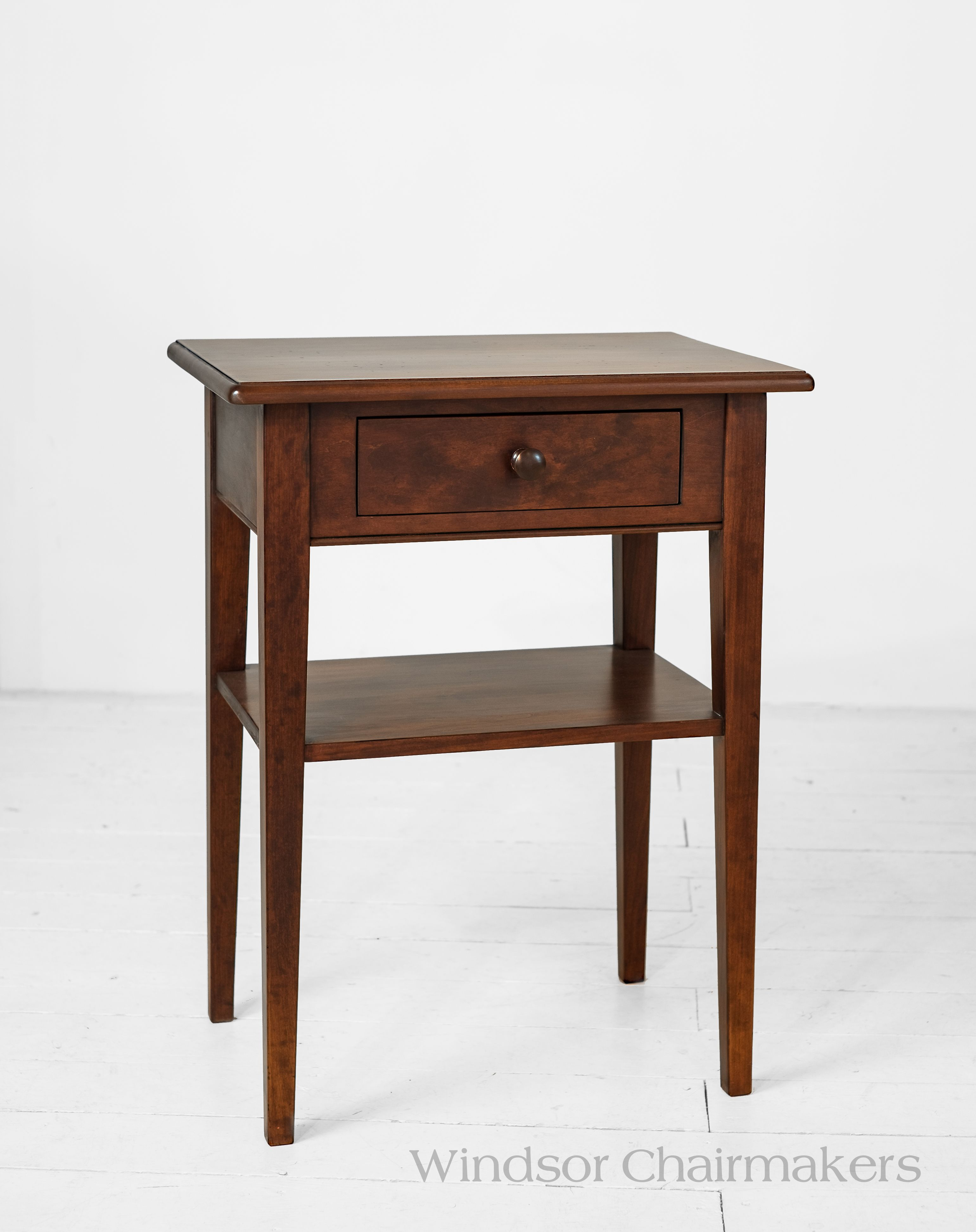 Cottage Bedside Table 23u201d X 16u201d X 30u201d High Wood Choices: Tiger Maple Or  Cherry