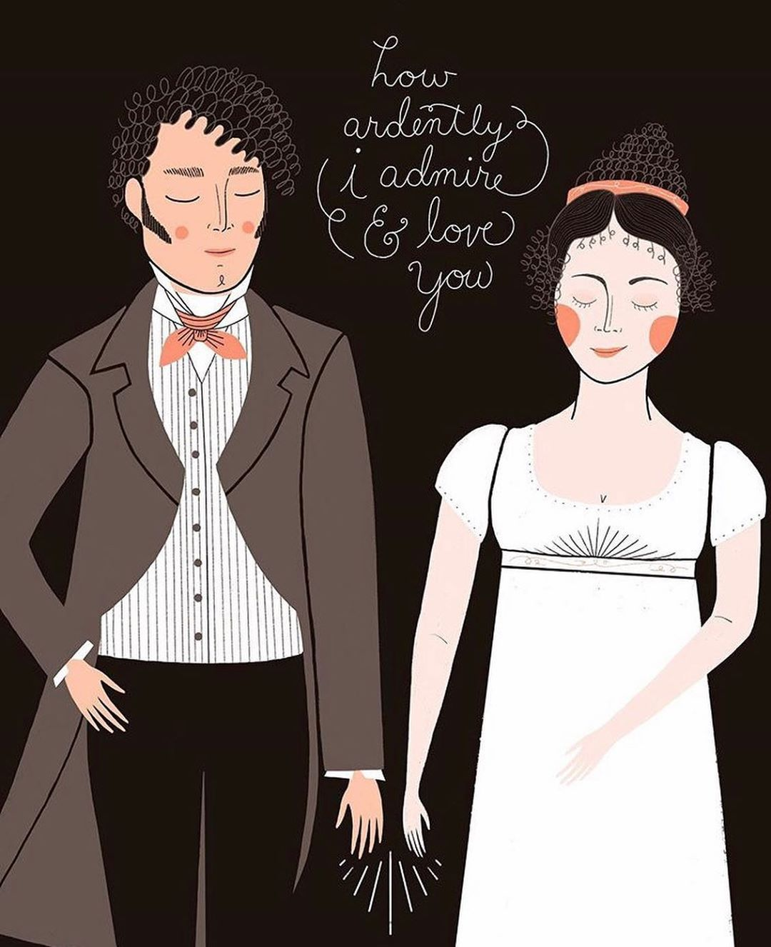 "Stacie Bloomfield for Gingiber on Instagram: ""No one says it quite like Mr. Darcy (the repressed romance am I right?) ️️️ Whether you celebrate Valentine's Day or not, it is a GOOD…"""