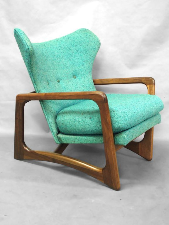 Atomic Age Lounge Chair Adrian Pearsall For Craft Associates American, Wide  X Deep X Tall As Found Estate Condition, Solid Frame, Faded Upholstery