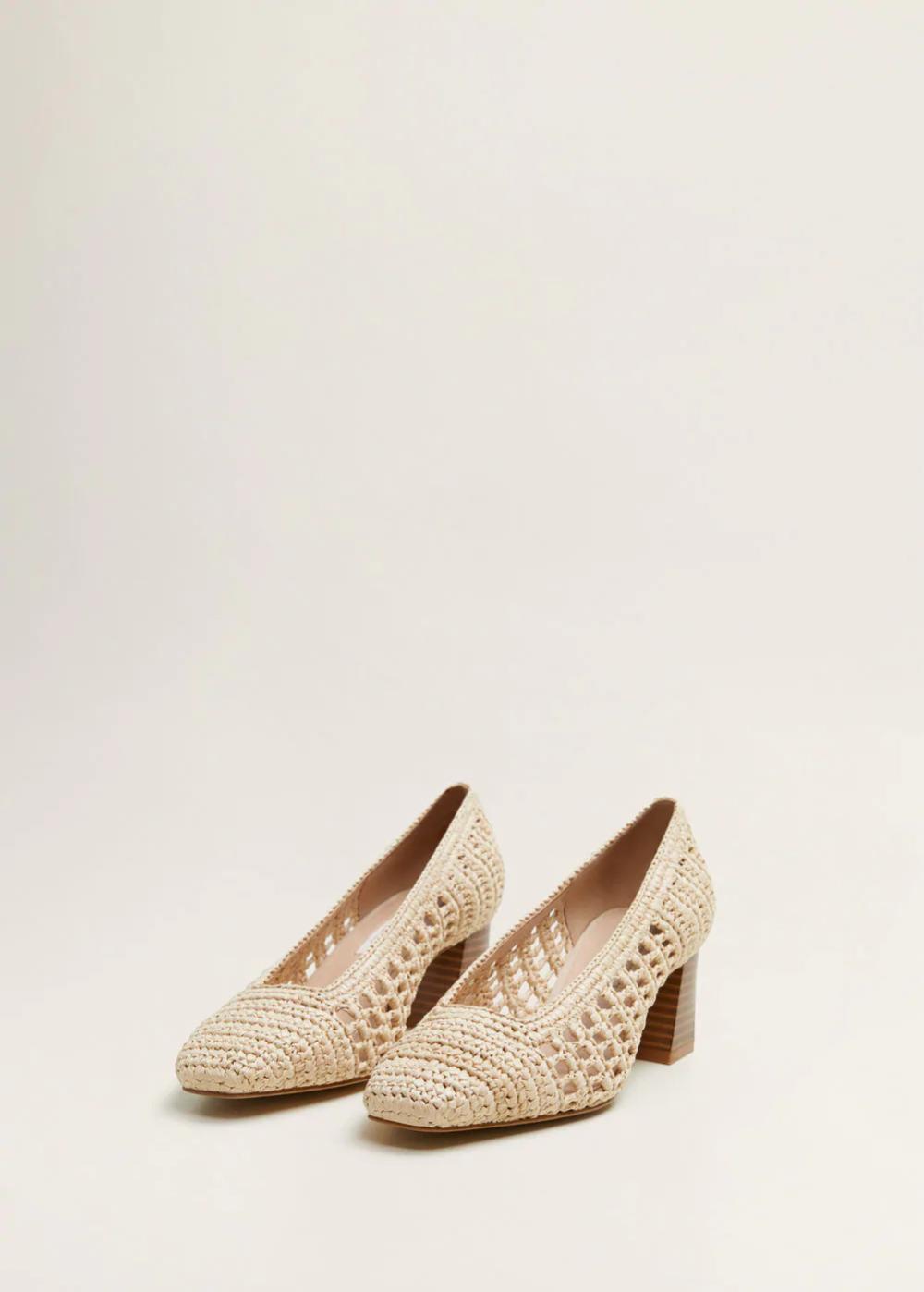 Plecione Buty Na Obcasie Kobieta Mango Polska Shoes Heels Heels Women Shoes