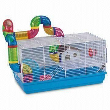 Hamster Cage In Manifold Size Various Types Are Available Hamster Cages Cool Hamster Cages Hamster Cage