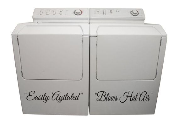 Vinyl Stickers For Washer And Dryer