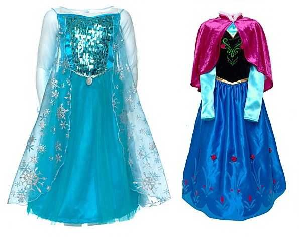 Anna & Elsa Dress Cosplay Costume In Frozen Kc-0001 - Buy Elsa Dress ...