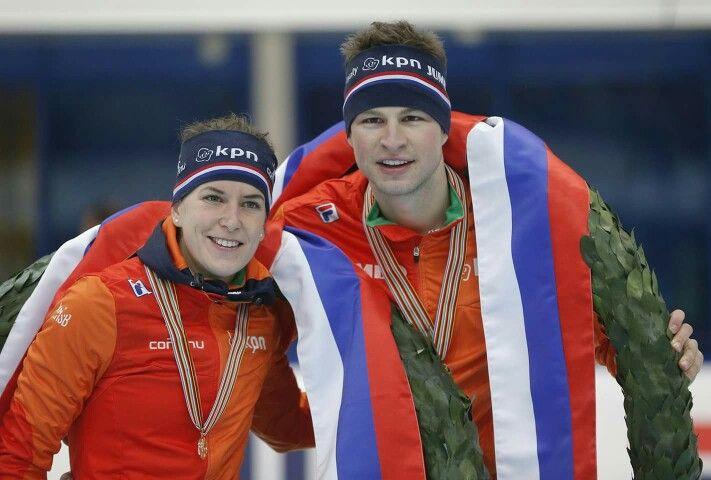 European Champions 'allround' speedskating! Ireen Wüst & Sven Kramer!