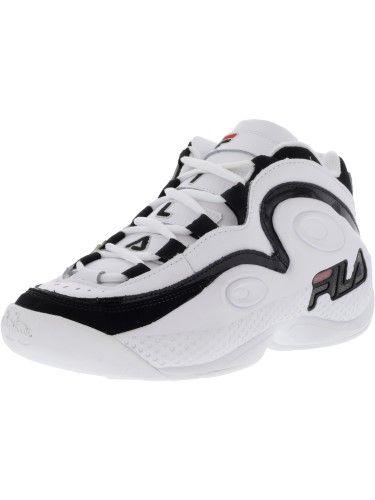 on sale 12b1d 2edef Fila Grant Hill 97 Men s Retro Basketball Sneakers Shoes, White Black Fila  Red