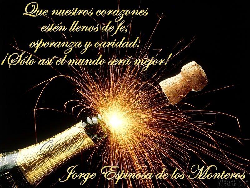Mensajes para a o nuevo deseos y frases para brindar en - Textos de felicitaciones de navidad y ano nuevo ...