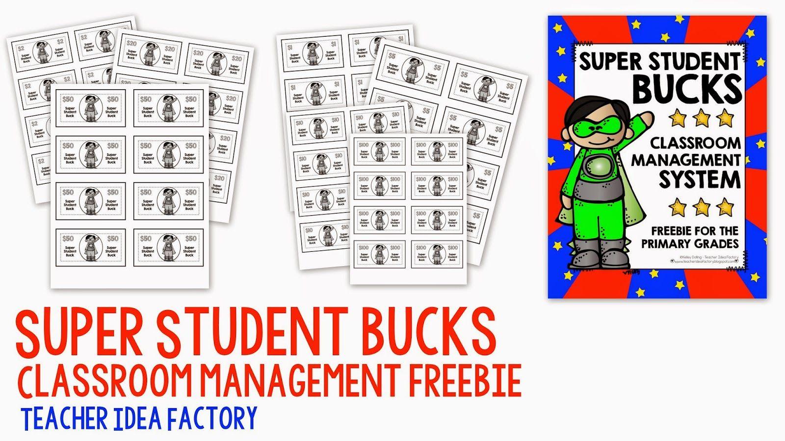 SUPER STUDENT BUCKS CLASSROOM MANAGEMENT FREEBIE
