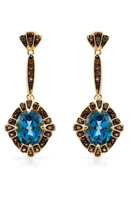 4.85 CTW Topaz 14K Gold Earrings - Enviius