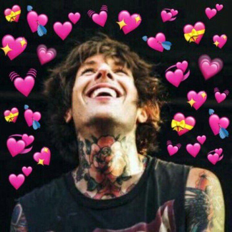 Oliver Sykes Heart Meme Amor Da Minha Vida Vida
