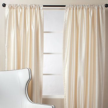 White Silk Curtains Affordable Modern
