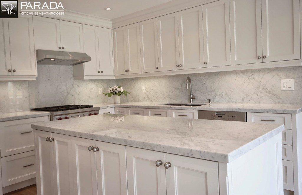 White Princess Quartzite Backsplash Full Height Quartz Backsplash And Counter Create A Ve Kitchen Remodel Countertops Kitchen Renovation White Modern Kitchen