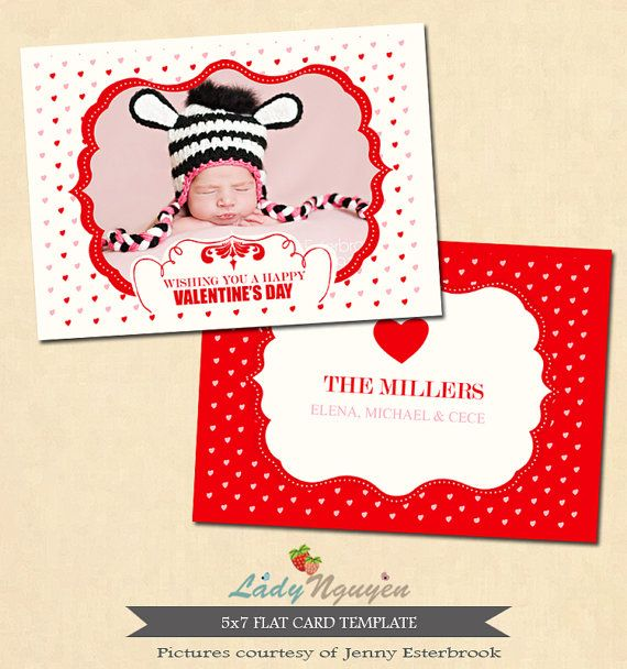 INSTANT DOWNLOAD Valentine's day card template от LadyNguyen