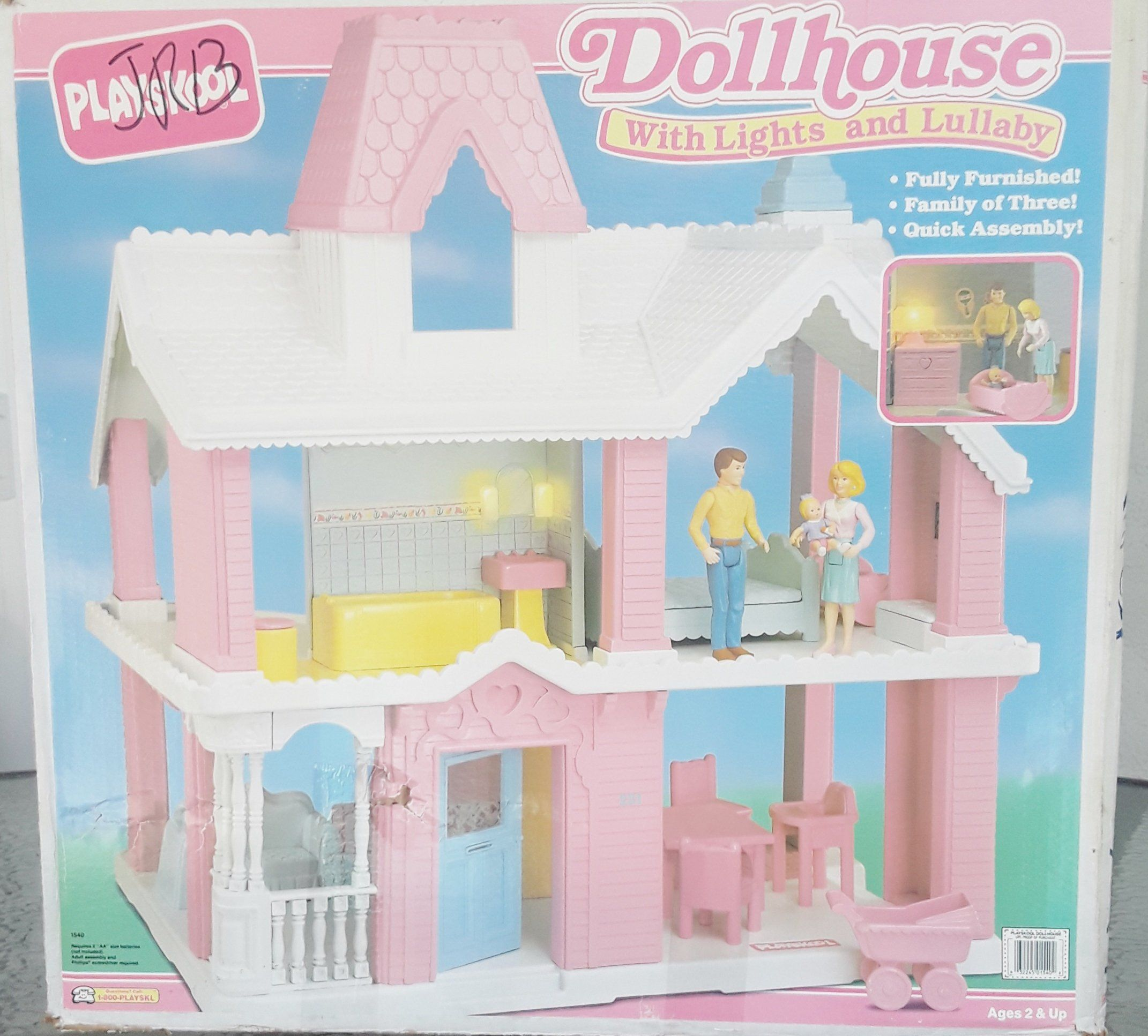 Vintage Playskool Dollhouse Lights And Lullaby Victorian Dollhouse