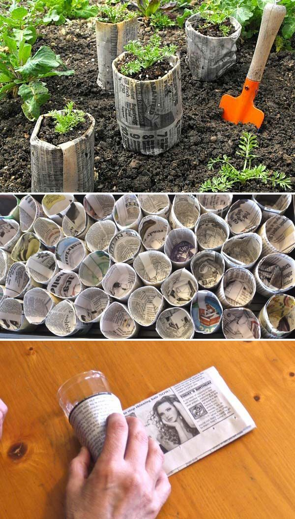 Make Newspaper Seed Starter Pots Starting Plants From