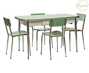 Tavolo E Sedie Anni 70.Set Da Cucina Con Tavolo In Formica E 4 Sedie Anni 60 P Unico