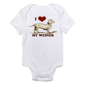 Amazon.com: CafePress Infant Bodysuit - I love my Weiner Dog! Infant Bodysuit: Clothing