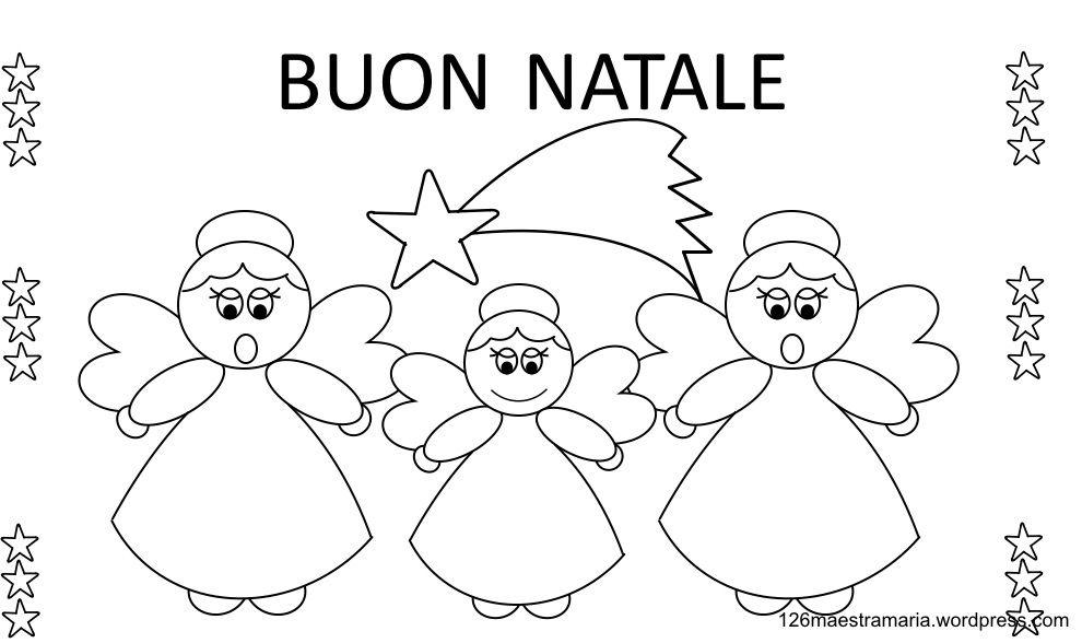 Disegni Natalizi Angeli Da Colorare Natale Angeli Natale Scuola Materna