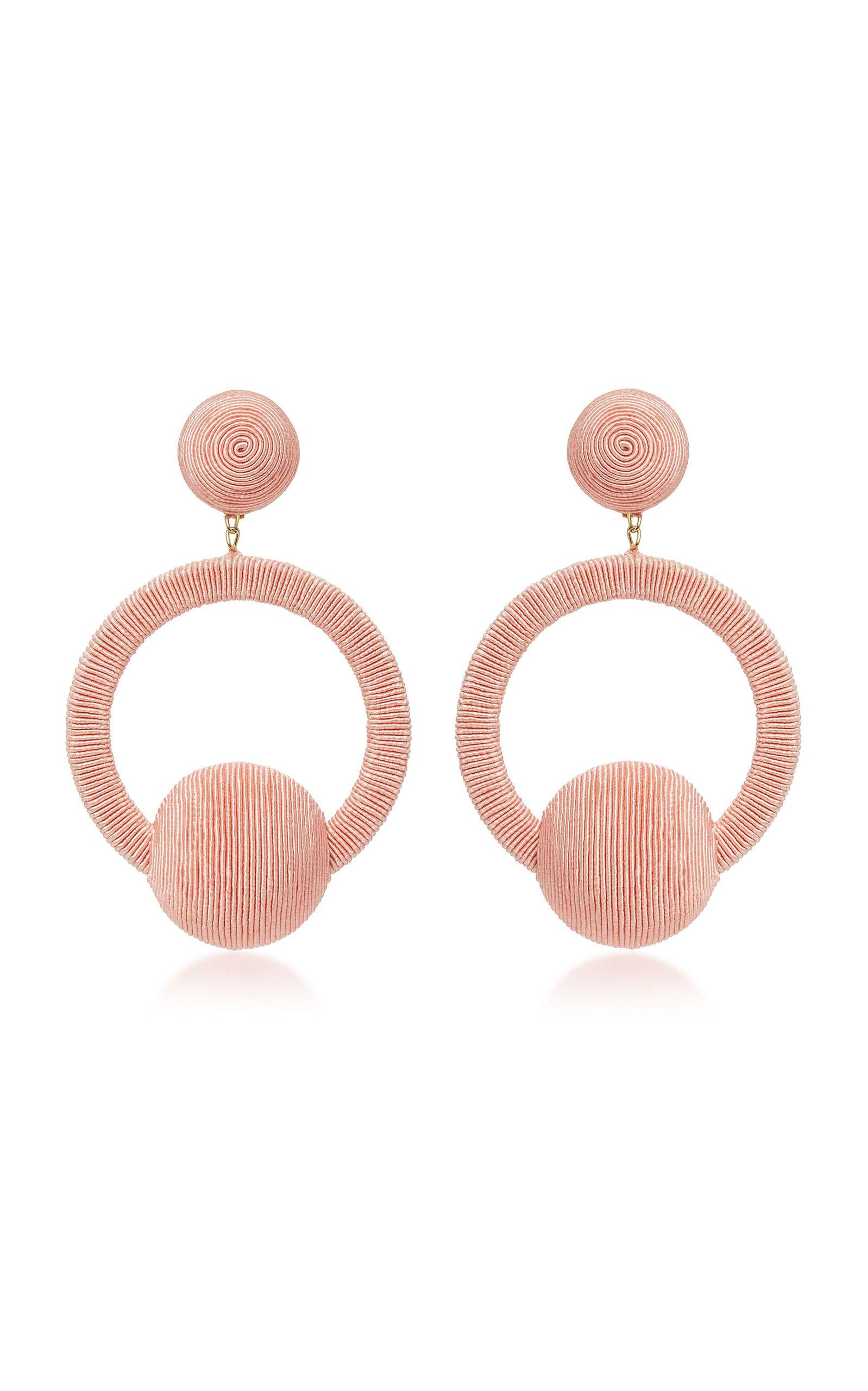 299612c8910c2 Love these light pink Rebecca de Ravenel Laeticia Hoop Lala Earrings ...