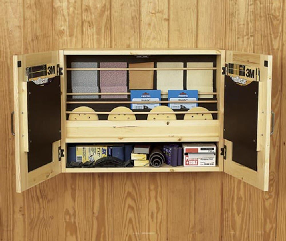 Get It All Together Sandpaper Cabinet Woodworking Plan, Workshop U0026 Jigs Shop  Cabinets, Storage, U0026 Organizers