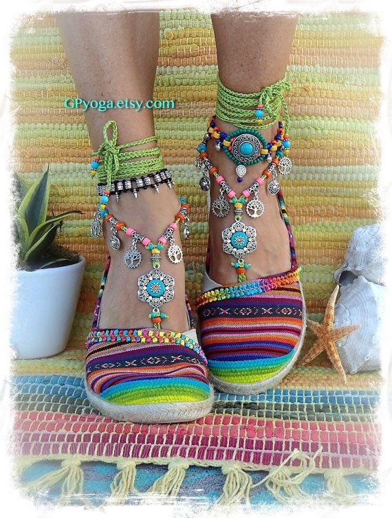 Green Sandals With Hippie Flower Festival Barefoot Turquoise Boho OPXukZi