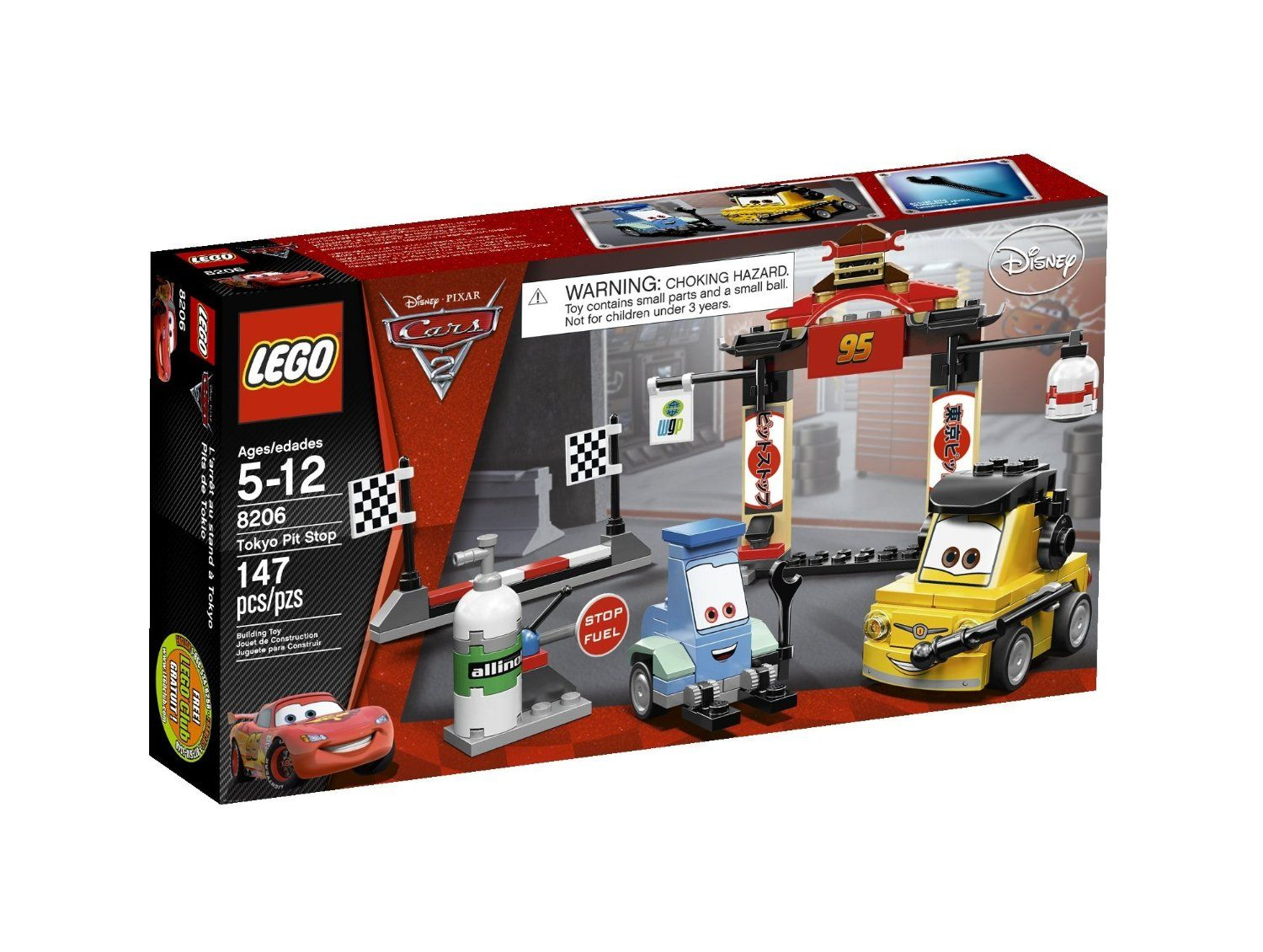 LEGO Cars Tokyo Pit Stop 8206 Toys & Games