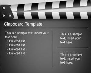 clapboard powerpoint template is a premium but free film powerpoint