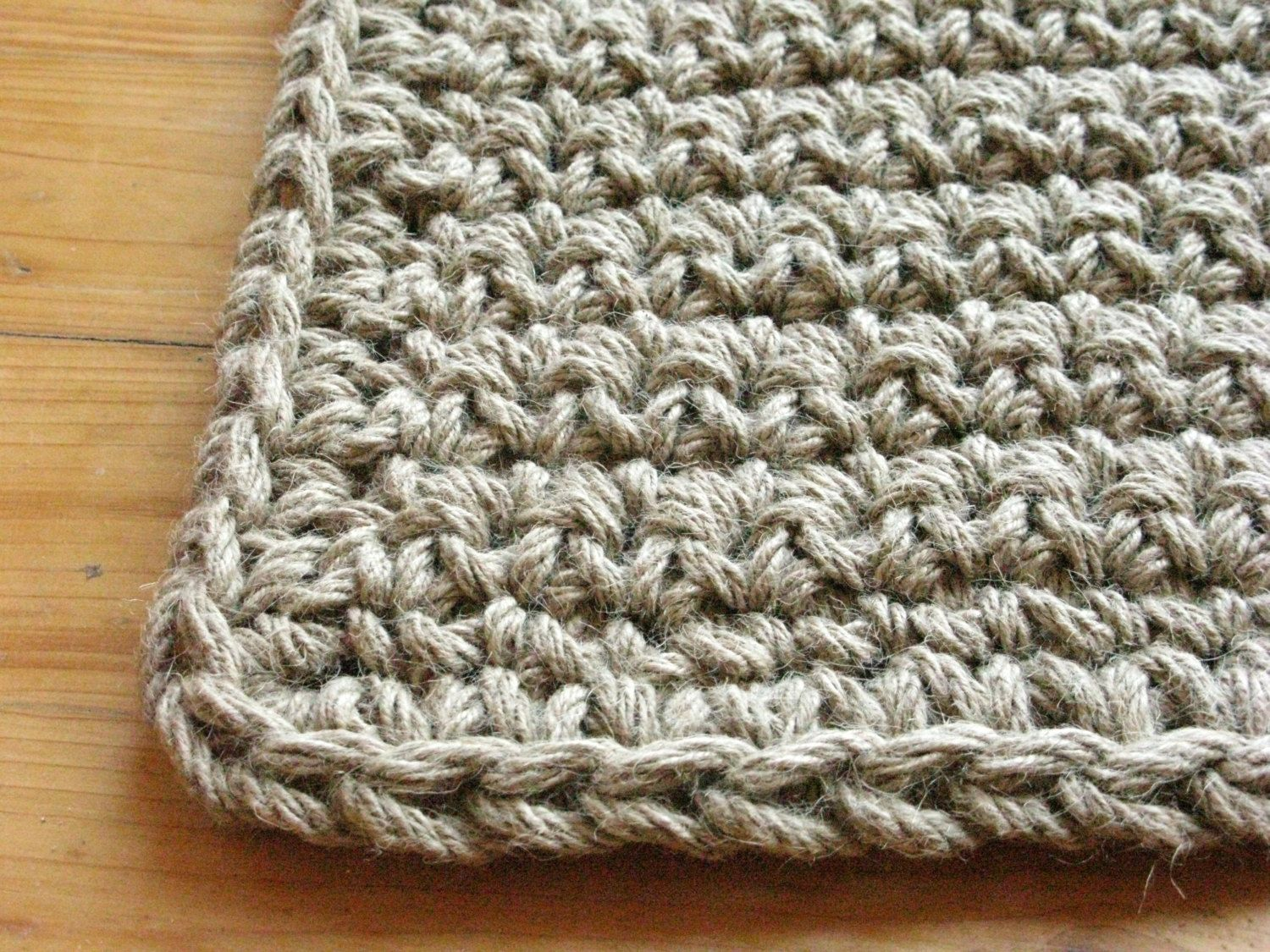 Crochet jute door rug, doormat. Welcome rug. 100% naturals ...
