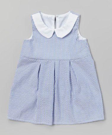 cbd160a267c5a Loving this Blue Seersucker Sleeveless Dress - Infant & Toddler on #zulily!  #zulilyfinds