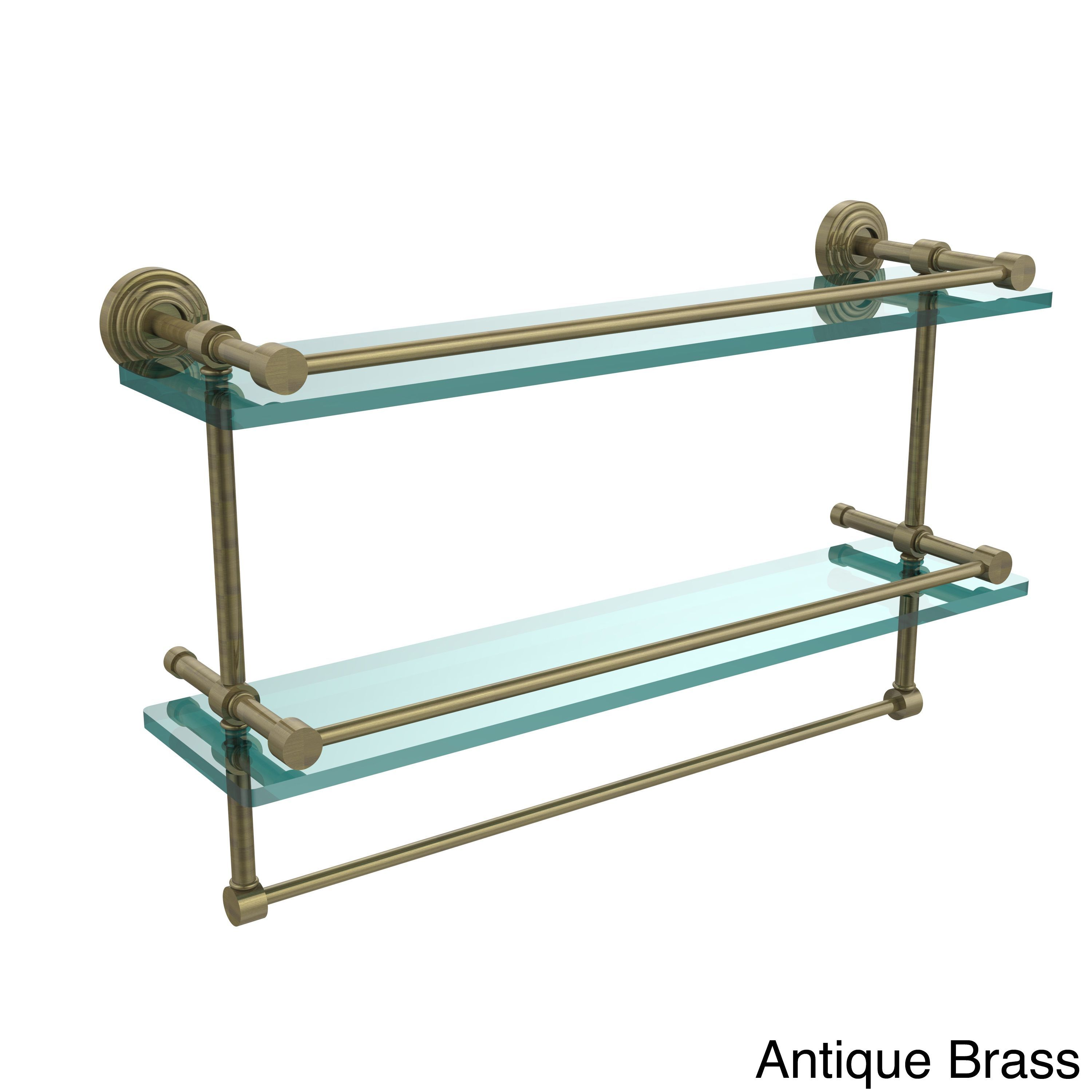 Allied Brass Waverly Place 22-inch Gallery Double Glass Shelf with ...