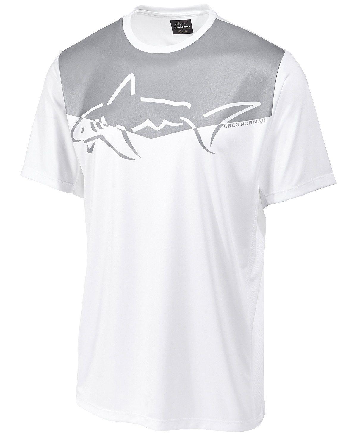 Greg Norman For Tasso Elba Men S Graphic Print Performance Sun Protection T Shirt Greg Norman Men Macy S Shirts Mens Tshirts Greg Norman