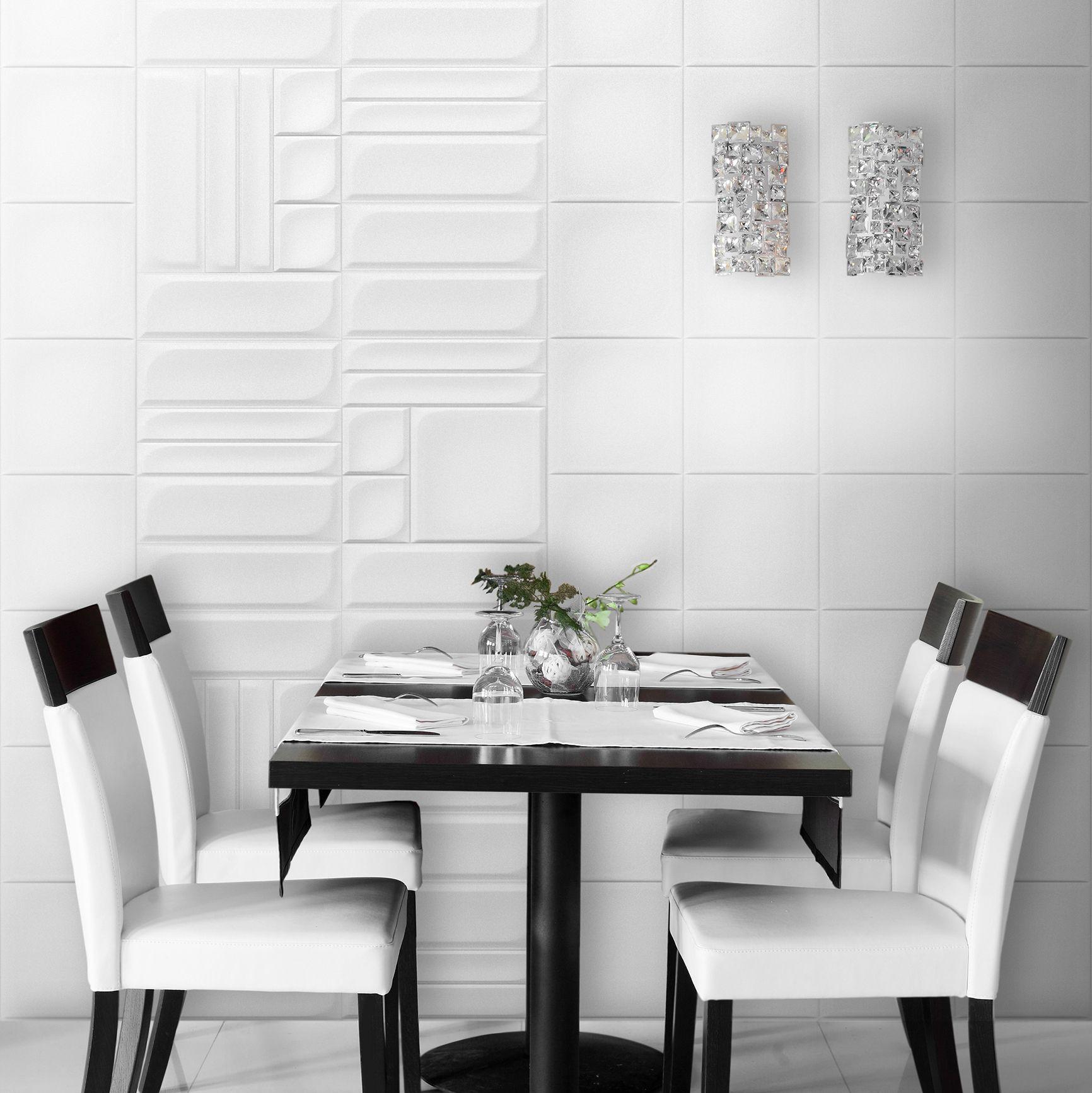 Ambient Ceramic Relief Modular In Colours White Ambiente Con Relieve Ceramico Modular En Colores Blanco Imagenes De Ambiente Disenos De Unas Diseno De Modas