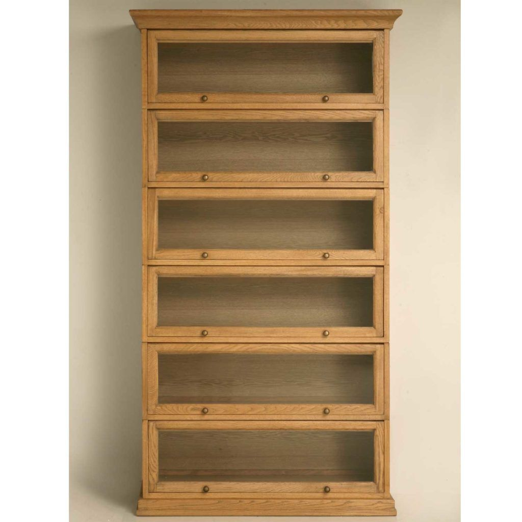 Furniture oak barrister bookcase with glass doors 6 for Stacking bookcase plans