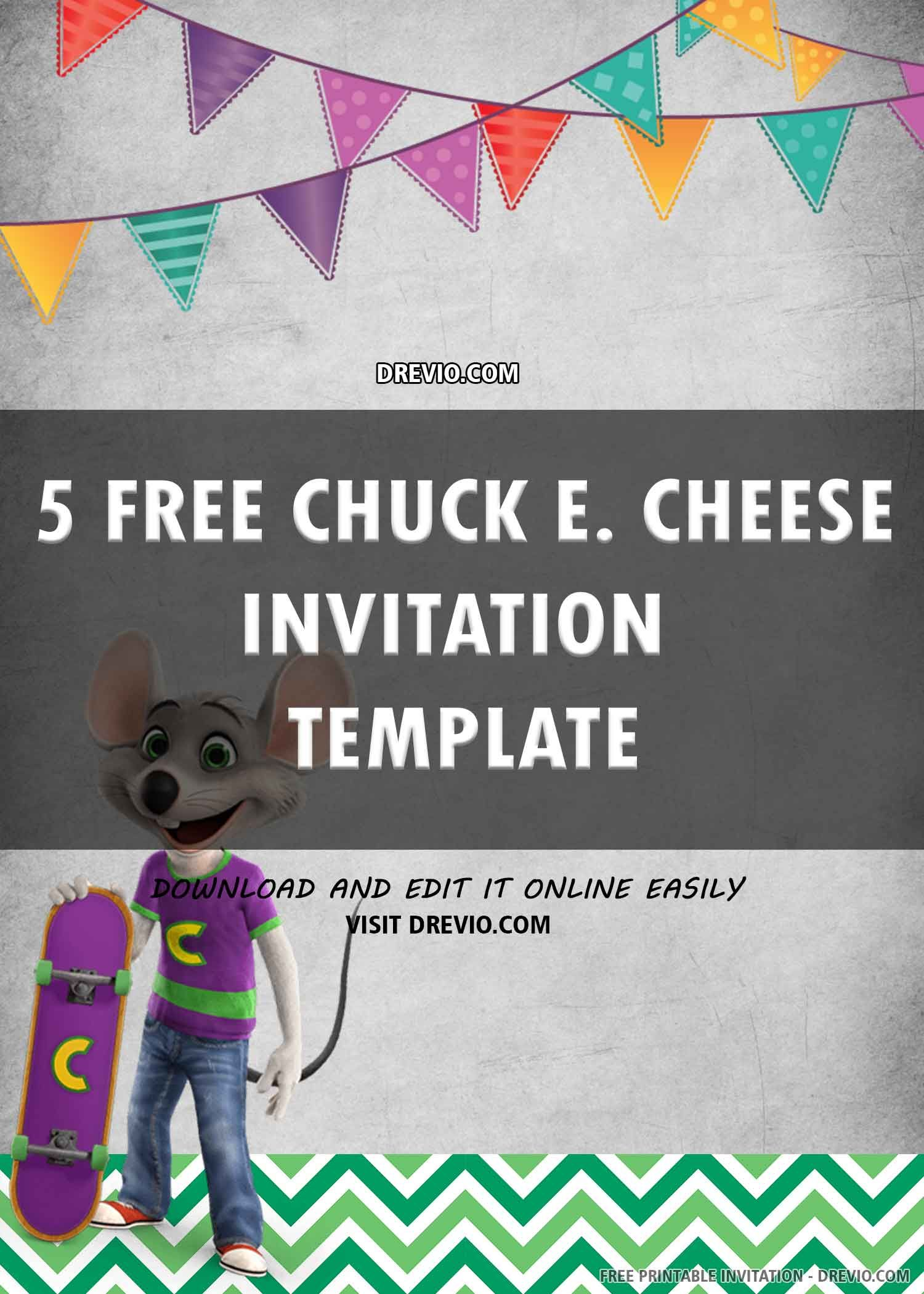 Free Printable Chuck E Cheese Birthday Invitation Template In 2021 Free Printable Birthday Invitations Birthday Invitation Templates Chuck E Cheese Birthday