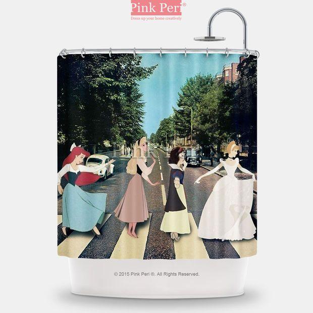 Abbey Road The Beatles Disney Princess Handmade Custom Shower