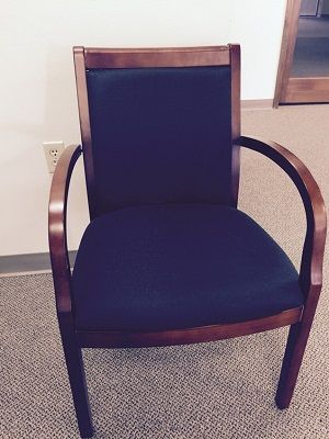 Guest Chair Wood Frame 1 Available 75 Used Office