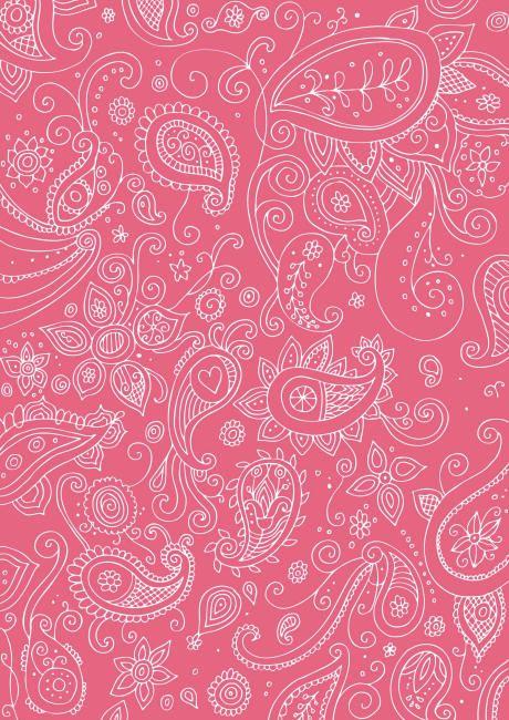 Diwali Scrapbook Paper Pink Paisley Lien Pdf Au Dessus De Limage