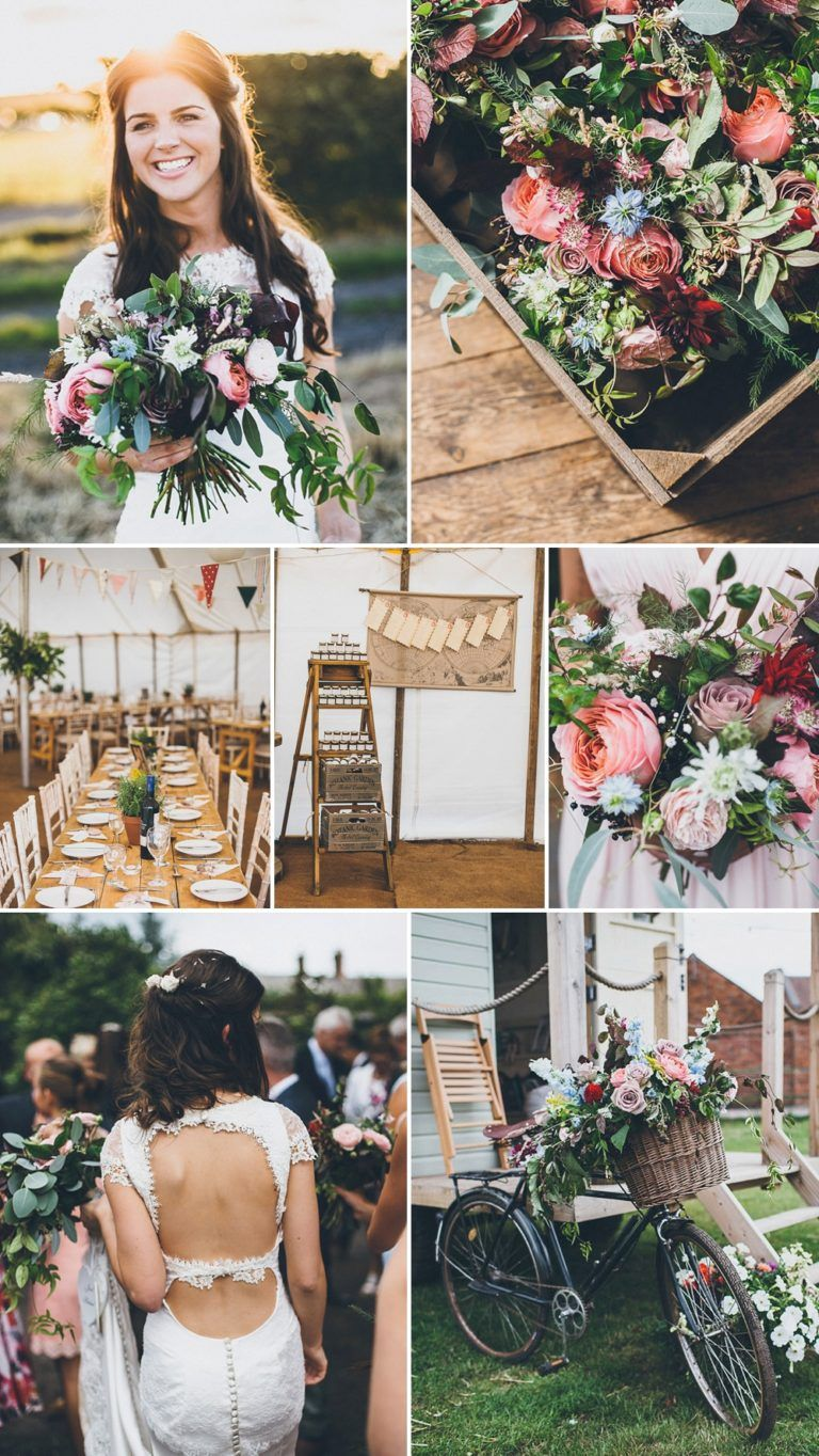 f345a7110233 DIY Marquee Wedding on the Brides Family Farm with Homemade Bridal ...