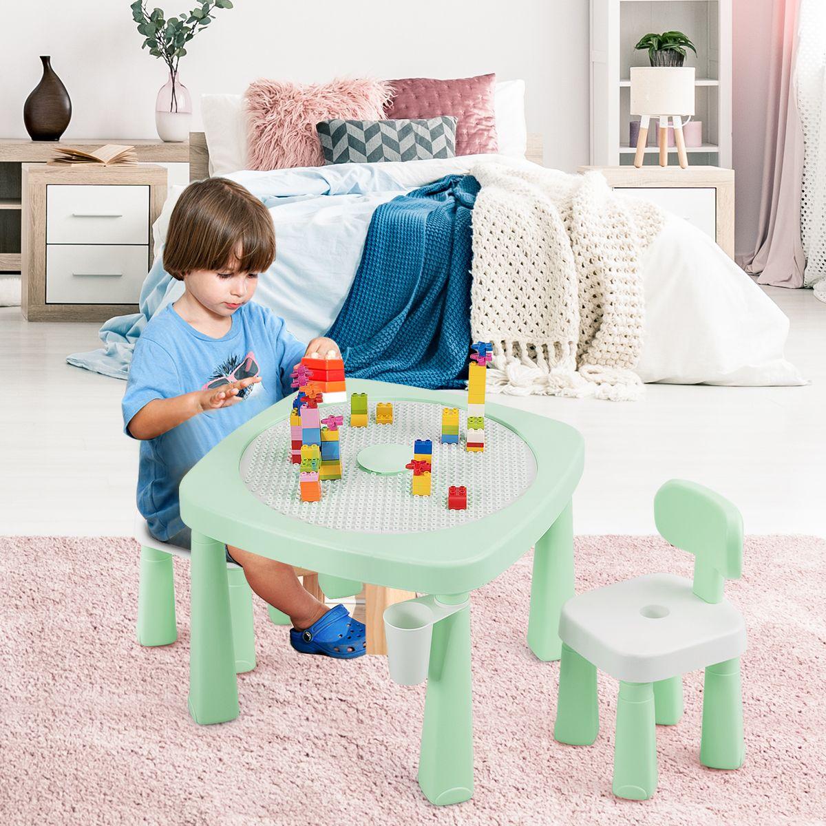 Cet Ensemble Table Et Chaises Pour Enfants Offre Une Variete De Possibilites De Jeu Pour Accompagner Les Enfants En Pleine Cro