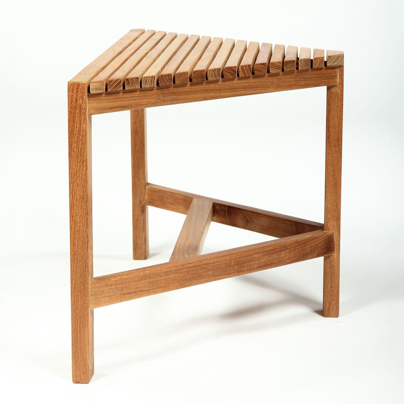 arb teak u0026 specialties ben529 teak corner shower bench
