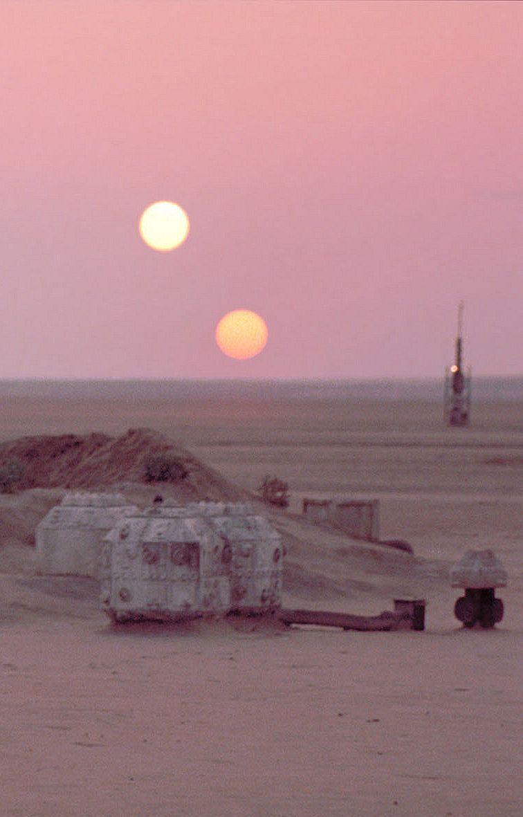 Binary Sunset Star Wars Wallpaper Star Wars Background Star Wars Pictures