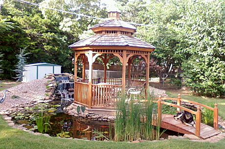 ok shed out of there.. Gazebo, pond, fish and bridge Hmm! | garden Pondside Backyard Ideas Fire on barn fire ideas, backyard fire friends, backyard fire places, backyard fire art, deck fire ideas, backyard fire pit, wall fire ideas, outdoor fire ideas, backyard fire designs, halloween fire ideas,