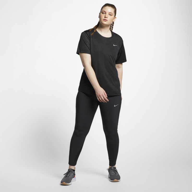 Miler Women's Short-Sleeve Running Top (Plus Size). Nike