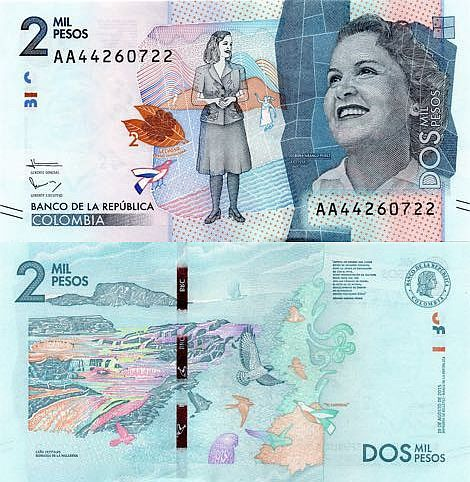 Colombia 2000 Pesos 2017 With Images