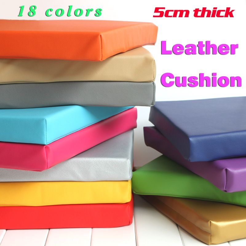 New Synthetic Leather Cushion Comfortable And Ergonomic Office Car Seat 45x45cm Free Shipping
