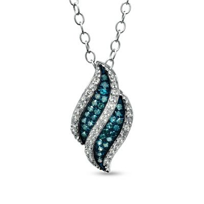 by blue diamond collections susong necklaces ladies facets pendant pendants large