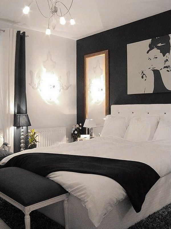 Creative ways to make your small bedroom look bigger - Black white and gray bedroom ideas ...