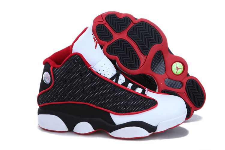 Cheap Cheap Nike Air Jordan 13 Women Phat Retro Red Black And White Shoes  Sale Outlet Store