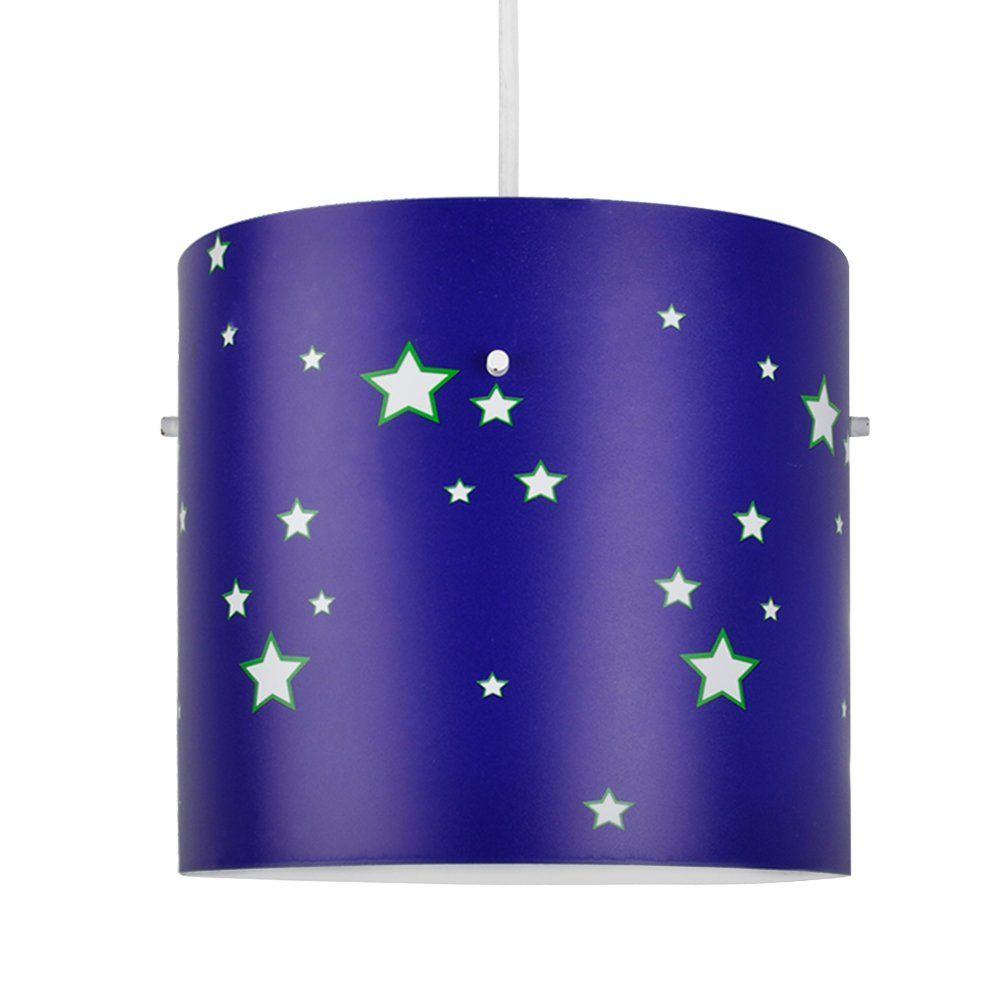 Colourful Space And Stars Childrens Cylinder Ceiling Pendant Light Shade Amazoncouk